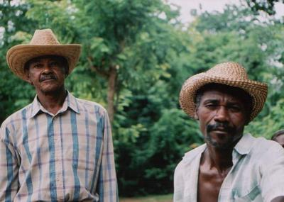 haitians, picture 1: two men. click on the image to go to the next picture