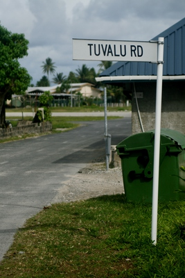 tuvalu, picture 2: tuvalu road. click on the image to go to the next picture